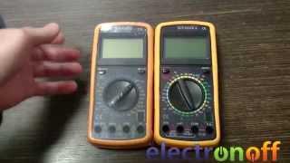 Цифровые мультиметры DT9208A и DT9205A. Видео обзор от Electronoff.ua