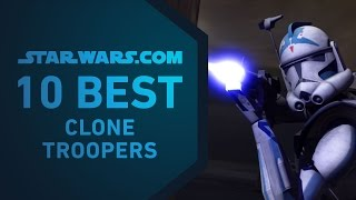 In this installment of the StarWars.com 10, we're picking the best clone troopers of Star Wars and Star Wars: The Clone Wars -- not counting that whole Order 66 ...