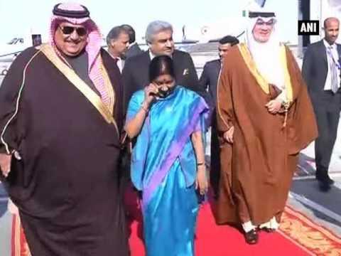 Sushma Swaraj calls on King of Bahrain Hamad bin Isa Al Khalifa