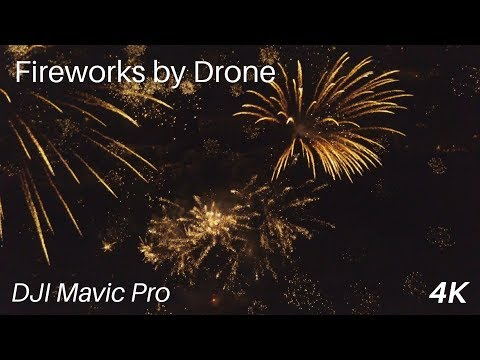 Fireworks by Drone in Basel / Switzerland. Stunning footage !!!