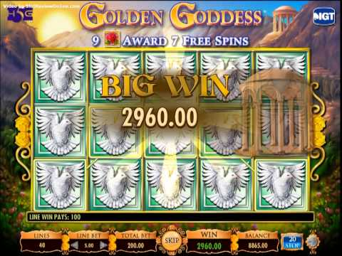 IGT Golden Goddess Slot Machine Online Game Play