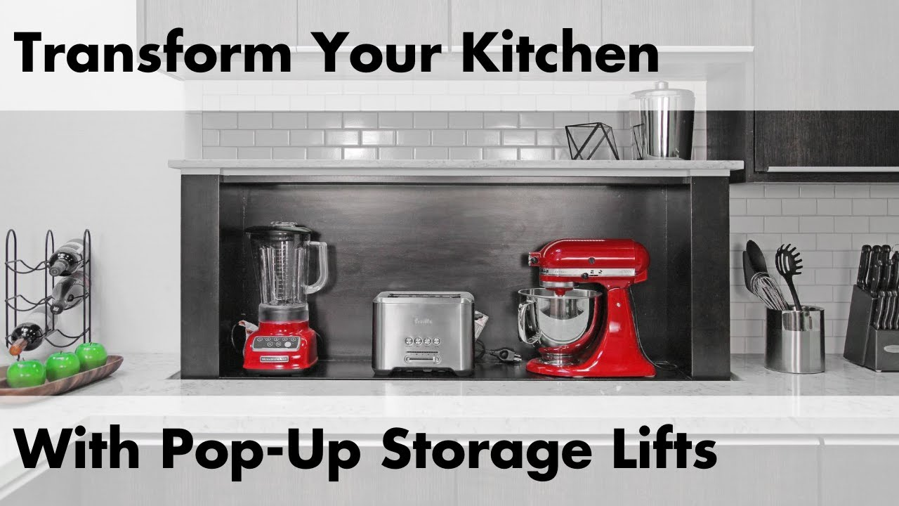 Countertop Cooking Appliances How Pop Up Appliance Lifts Can Transform Any Kitchen