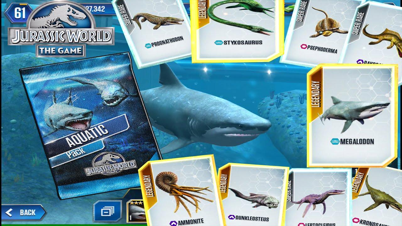 FEEDING THE NEW AQUATIC CREATURES! -Jurassic World The Game - Aquatic Update!