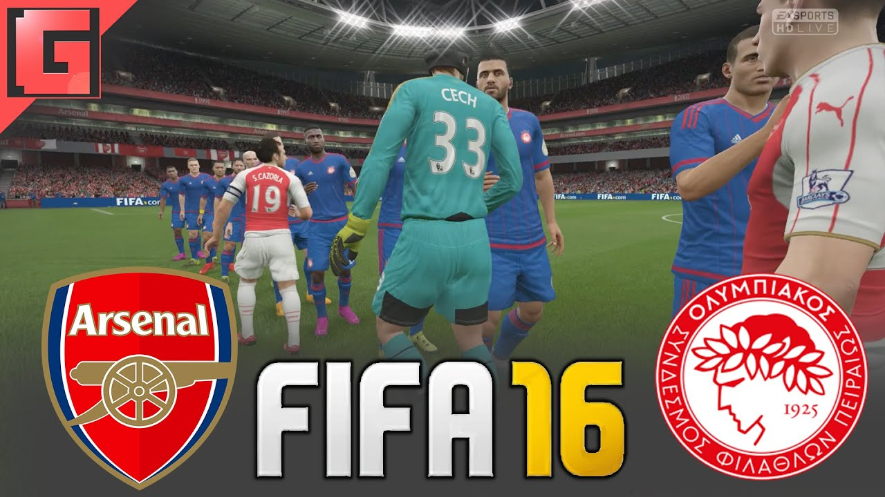 FIFA 16 - Arsenal VS. Olympiakos - Full Match - Ps4 Gameplay - YouTube