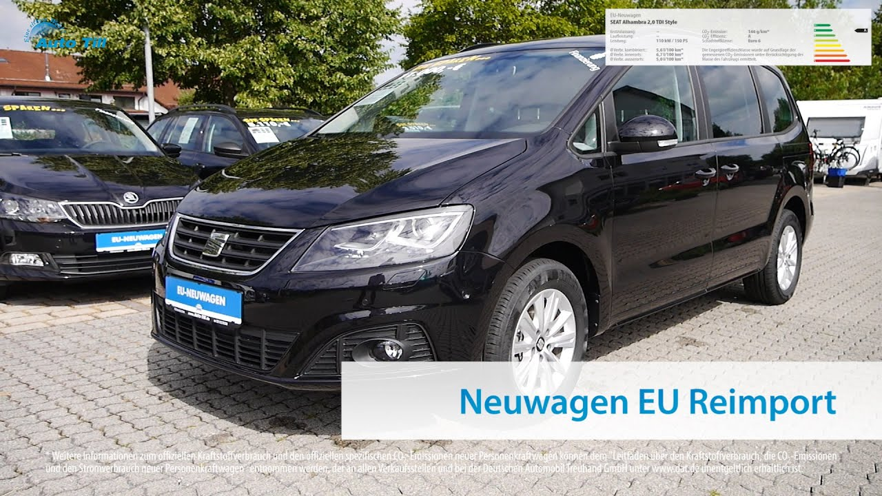 seat alhambra 2 0 tdi style eu neuwagen m nchen bei auto. Black Bedroom Furniture Sets. Home Design Ideas