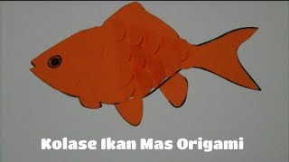 Cara Mudah Membuat Kolase Ikan Dari Kertas Origami - Sisik Ikan Melambai