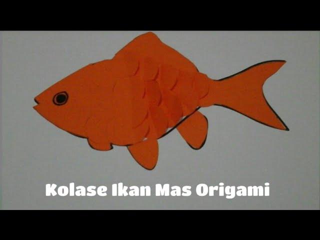 Cara Mudah Membuat Kolase Ikan Dari Kertas Origami Sisik Ikan Melambai Youtube