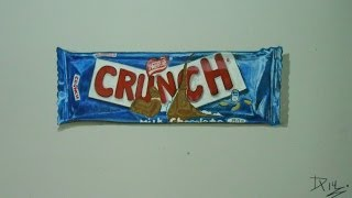 Drawing Time Lapse: Crunch Chocolate Bar