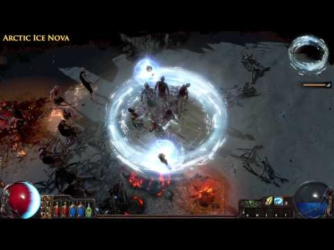 Path of Exile - Arctic Ice Nova Skill Effect