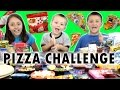 PIZZA CHALLENGE w/ Tabasco Hot Sauce Jelly Beans | FUNnel Vision Family Fun