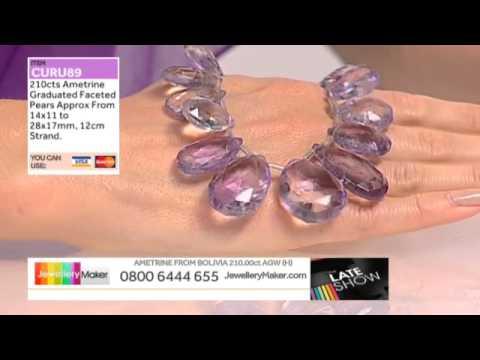 Emerald and Ametrine for jewellery making: JewelleryMaker late show  LIVE 21/08/2014