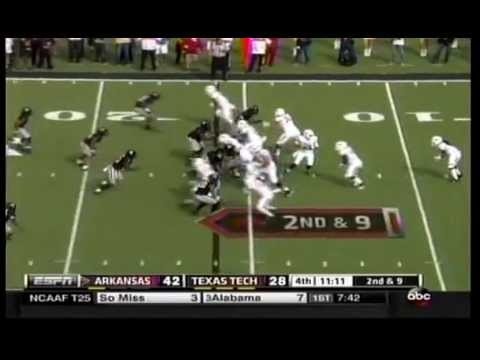 Alex Collins 84 yard TD at Texas Tech (2014)