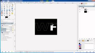 Как создать свое лого для канала ютуб в GIMP