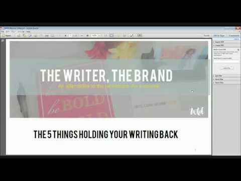 TWTB Webinar - 5 Things Holding Your Writing Back