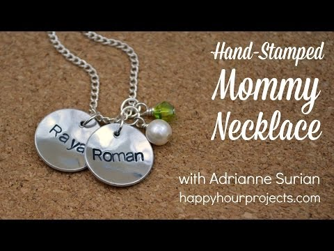 How to Make a Hand-Stamped Mommy Necklace