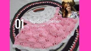 Como tejer vestido en crochet.  Parte UNO.