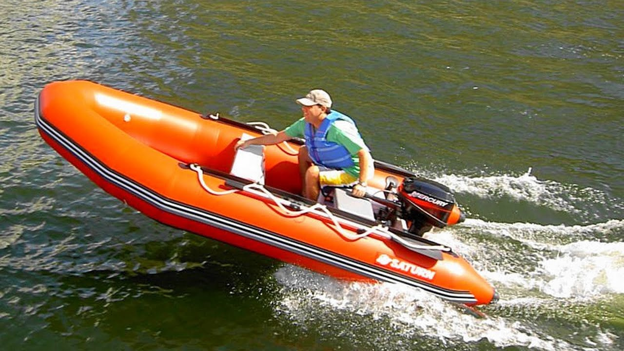 13' SATURN inflatable boat SD385 with 15HP and Central Console