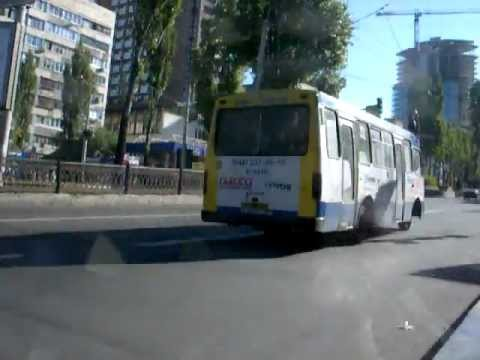 Ukrainsk buss i Kiev