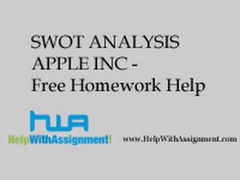 SWOT ANALYSIS APPLE INC - Free Homework Help