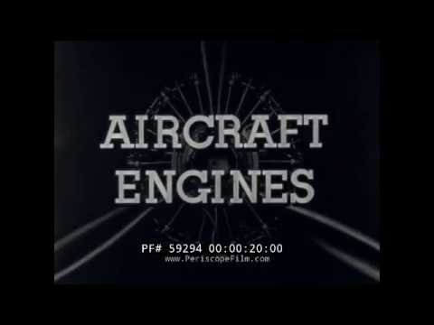 WWII PISTON AIRCRAFT ENGINE TYPES, MECHANISM & OILING SYSTEMS  TRAINING FILM  59294