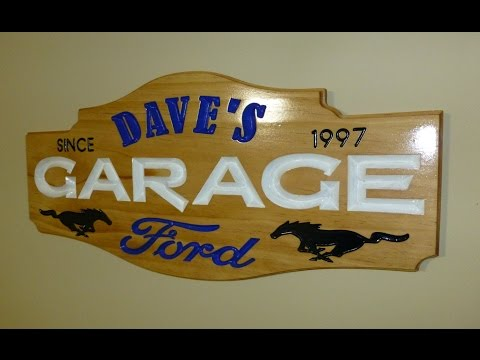 Making a Personalized Garage Sign