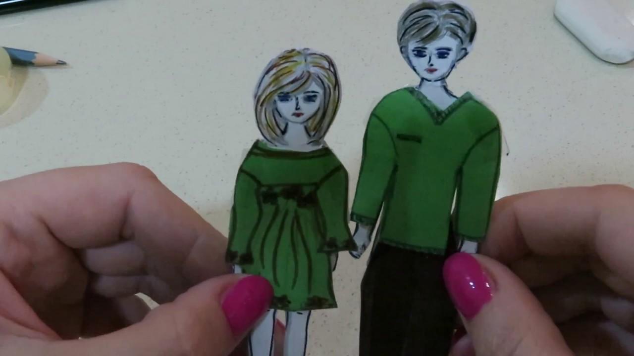 Как сделать бумажную куклу видео фото 61
