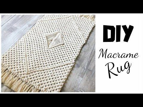 DIY Macrame Rug Tutorial - YouTube