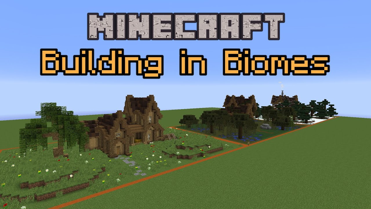 Minecraft Build School Building In Biomes Youtube