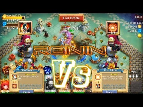 Ronin Best With Stone Skin Or Scorch? Castle Clash