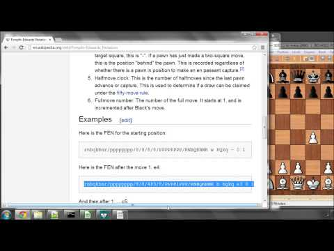 Programming A Chess Engine in C Part 14 - Position Setup - FEN Notation