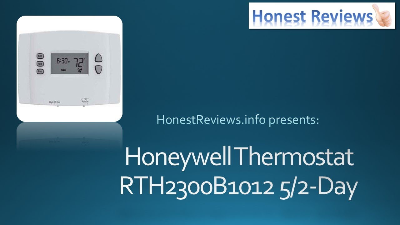 Honeywell Programmable Thermostat Review Rth2300b1012 Youtube Wiring Diagram For Rth2300b