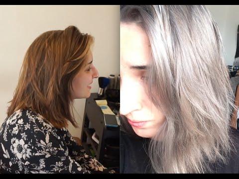 De un balayage a pelo gris con Olaplex ✂