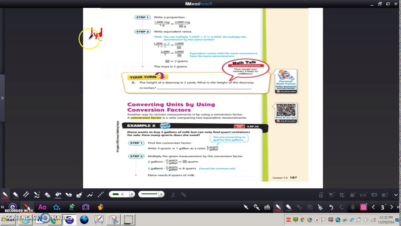 medium resolution of Lesson 7.3 Converting Within Measurement Systems - YouTube