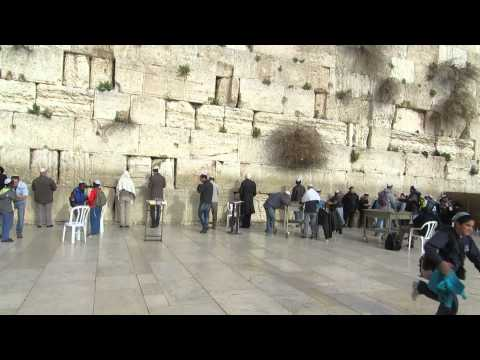 Visiting one of the holy places of Judaism and Christianity - Wailing Wall (Western Wall), Jerusalem