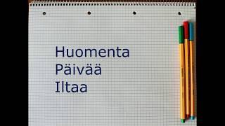Занимательный финский, урок 2