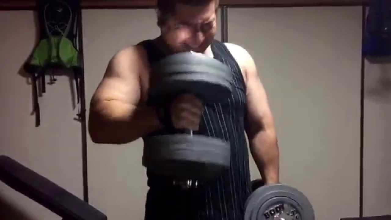 ハンマーカール40kg10回に挑戦(^...