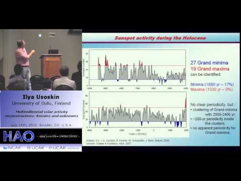 Ilya Usoskin | Univ of Oulu | Multimillennial solar activity reconstructions: Knowns and unknowns