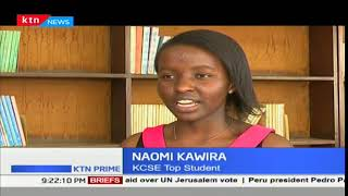 KCSE star Naomi Kawira didn't make it to the top 100 students in her KCPE