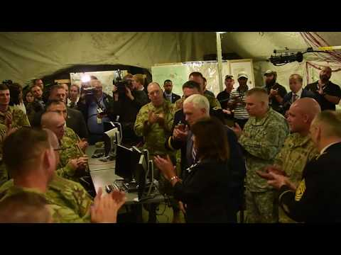 Vice President Mike Pence Visits Indiana soldiers for Armed forces day, INDIANAPOLIS, UNITED STATES