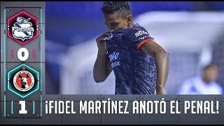 ¡GOOOOL! Fidel Martínez anotó el primer gol de Tijuana en el torneo |Puebla 0-1 Xolos