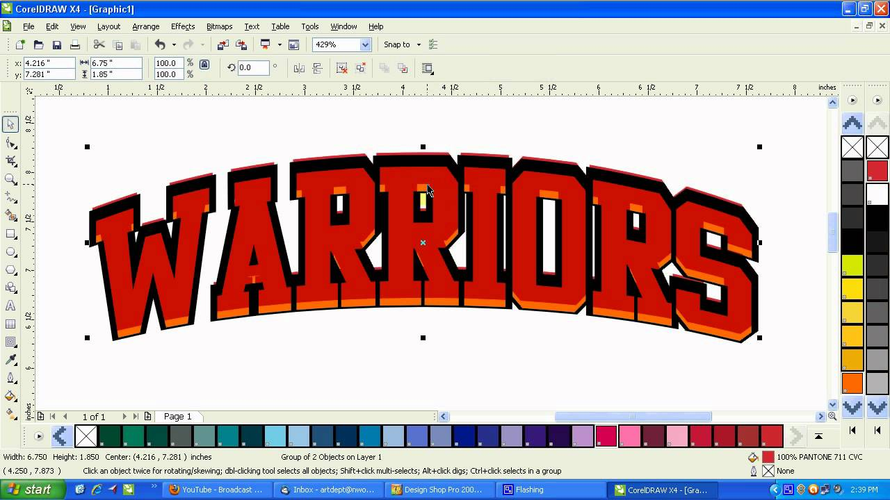 How To Make A Book In Coreldraw : Coreldraw how to adding depth with outlines and