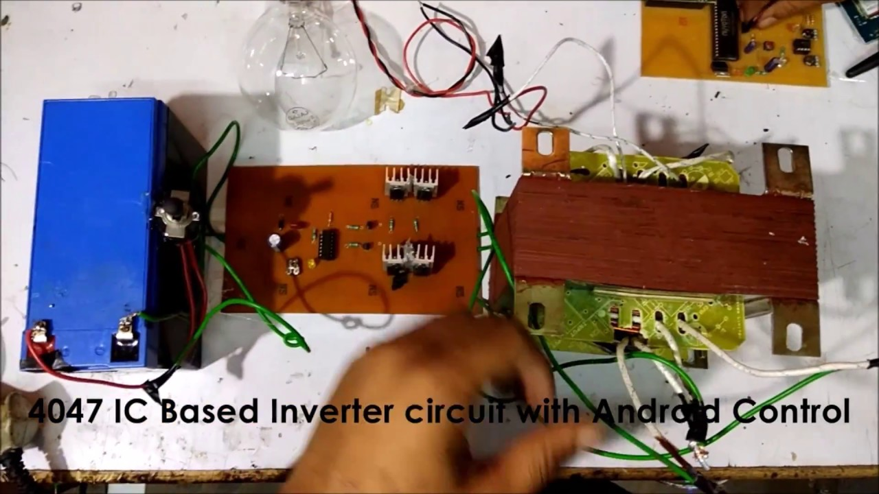 500 Watt Inverter 4047ic Based Youtube 1000 W Circuit Diagram