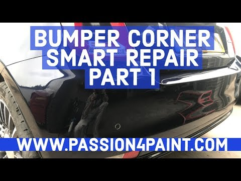 How To Do A Bumper Corner Smart Repair PART ONE - PAINT STAGE