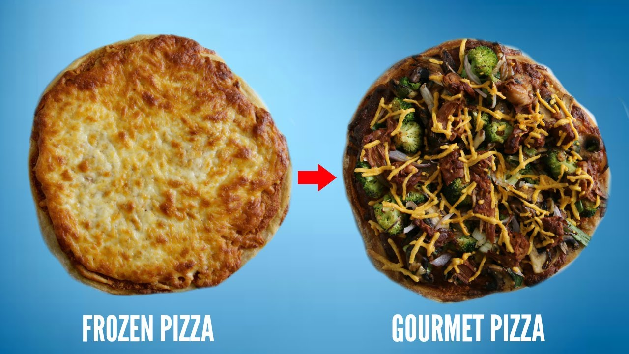 Frozen pizza to gourmet pizza youtube frozen pizza to gourmet pizza forumfinder