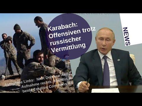 Karabach: Offensiven trotz russischer Vermittlung