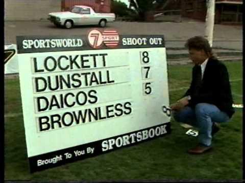 1992 AFL Shootout Lockett,Dunstall,Daicos & Brownless