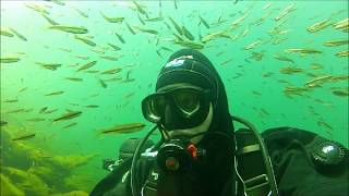Scuba diving a lake in the High Sierra Mountian's, lost treasure's recovered