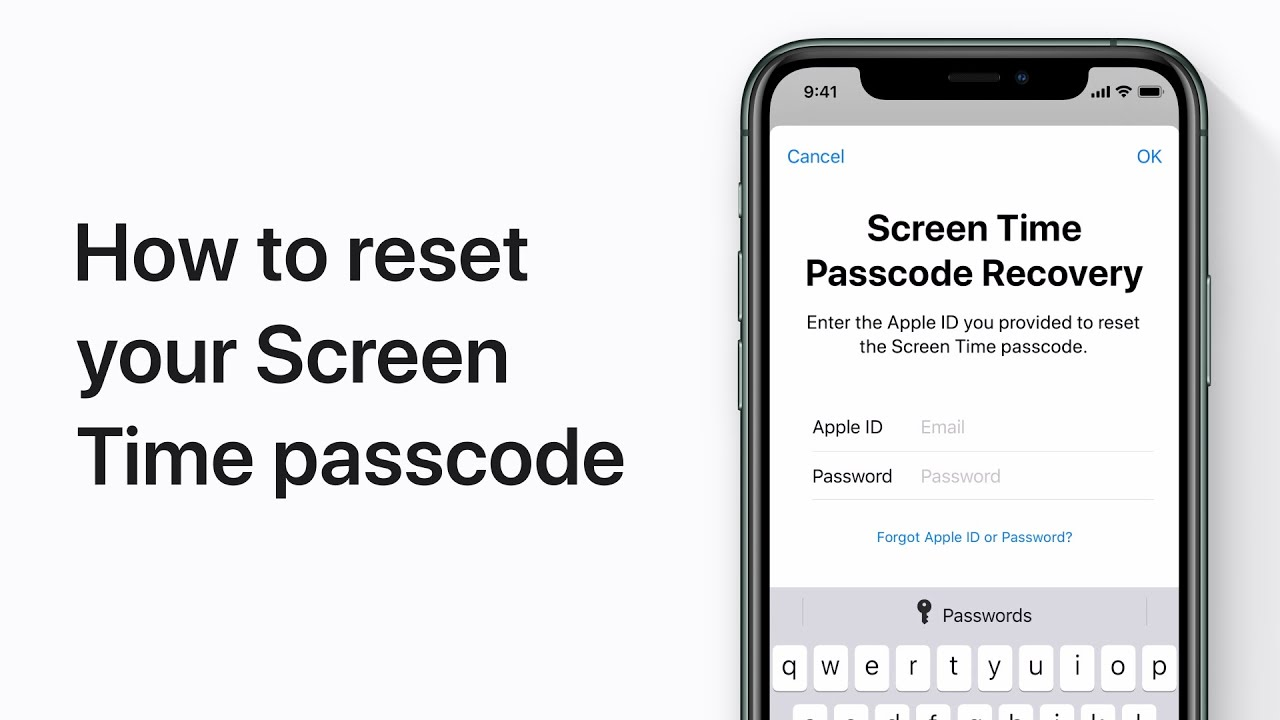 How to reset your Screen Time passcode on iPhone, iPad, and iPod touch —  Apple Support