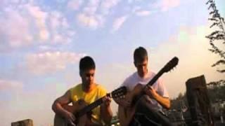 ПИРАТЫ КАРИБСКОГО МОРЯ на двух гитарах - соло и ритм на гитарах из Пиратов Карибского моря
