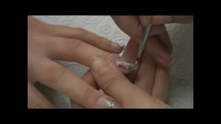 One stroke painting on nails. Nail Art. Китайская роспись ногтей Thumbnail